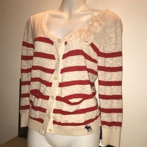 Sweaters - Abercrombie cardigan size M with pockets